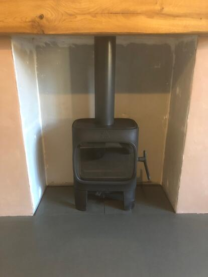 Brazilian Grey Slate Hearth By Abode Stoves 2