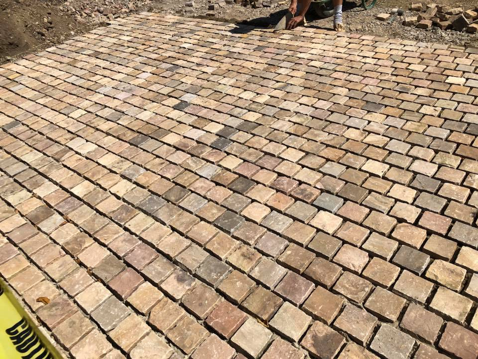 Fossil Mint Cobbles By SBD Paving