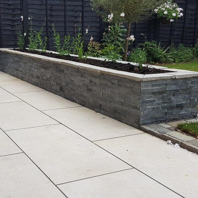 Grey Slate Cladding by Grounded Landscapes (3) SQ-1